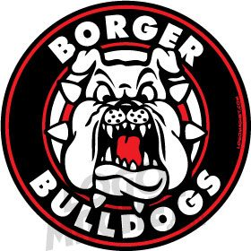 BORGER-BULLDOGS.jpg Custom Car Magnet | Logo Magnet