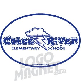 cotee river bolts cloud lightning bolts logo magnet