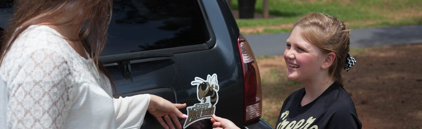 Student Athlete with Car Magnet