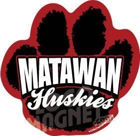 Matawan Huskies Paw Jpg Jpg Custom Car Magnet Logo Magnet