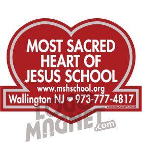 MOST-SACRED-HEART-OF-JESUS.jpg Custom Car Magnet - Logo Magnet