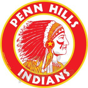 High Point Lacrosse >> PENN-HILLS-INDIANS.jpg Custom Car Magnet - Logo Magnet
