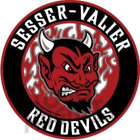 Sesser Valier Red Devils Jpg Custom Car Magnet Logo Magnet