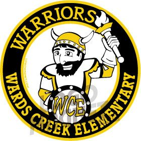 WARDS-CREEK-ELEM-WARRIORS-VIKING-TORCH-SHIELD