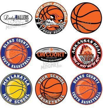 Custom Basketball Car Magnets LogoMagnetcom - Custom volleyball car magnets