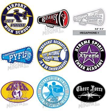 Custom Cheerleading Car Magnets LogoMagnetcom - Custom awareness car magnet